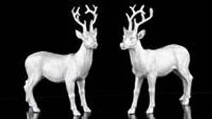Bilde av Hjort blank sølv 7cm