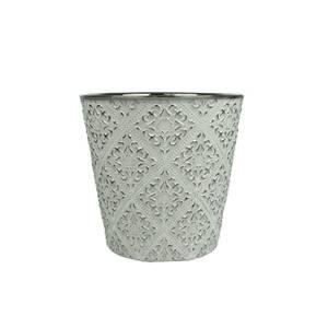 Bilde av Blomsterpotte sølvmønster