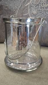 Bilde av Lysglass sølv med hank,