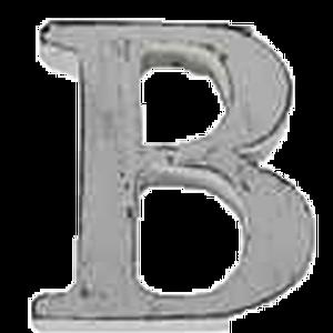 Bilde av Trebokstav B hvit 6cm