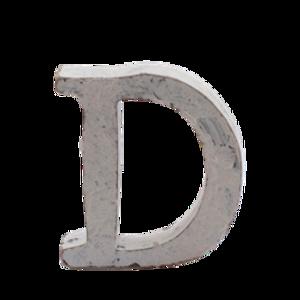 Bilde av Trebokstav D hvit 6cm