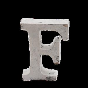 Bilde av Trebokstav F hvit 6cm