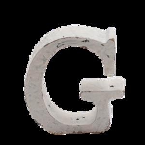Bilde av Trebokstav G hvit 6cm