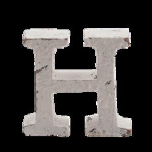 Bilde av Trebokstav H hvit 6cm