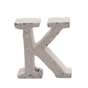 Bilde av Trebokstav K hvit 6cm