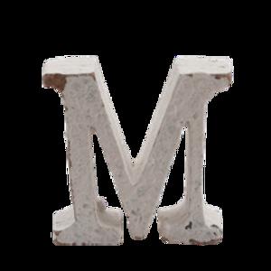 Bilde av Trebokstav M hvit 6cm