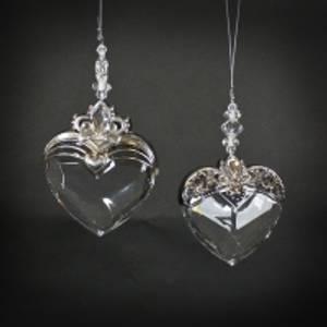 Bilde av Hjerte hengende akryl/metall