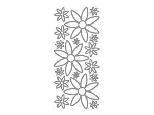 Bilde av Klistermerker blomster sølv