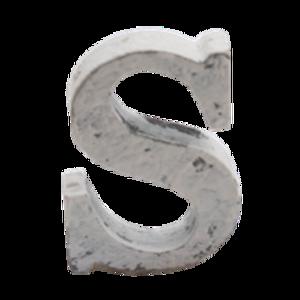 Bilde av Trebokstav S hvit 6cm