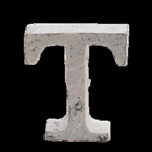 Bilde av Trebokstav T hvit 6cm