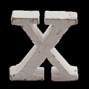 Bilde av Trebokstav X hvit 6cm