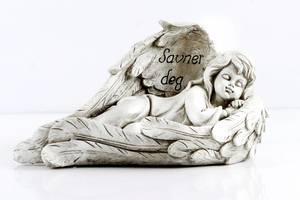 Bilde av Grav engel 29,5x16x15cm  grå