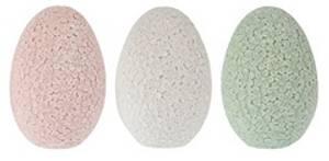 Bilde av Egg 9cm m/blomstermønster lys