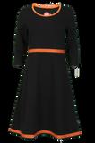 Bilde av Magda sort og oransje kjole