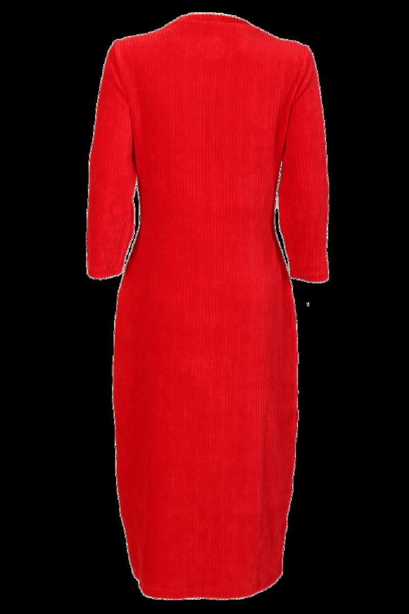Malla rød velurkjole