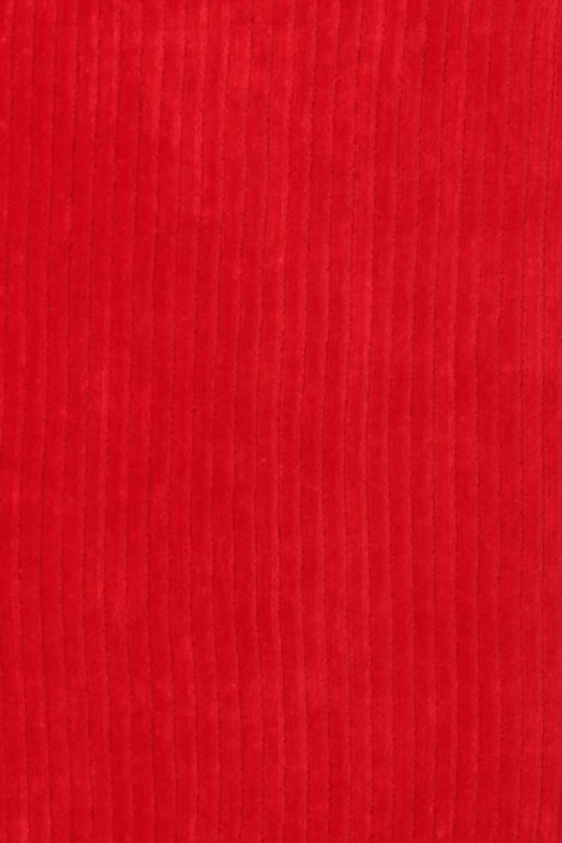 Mariann rød velurkjole