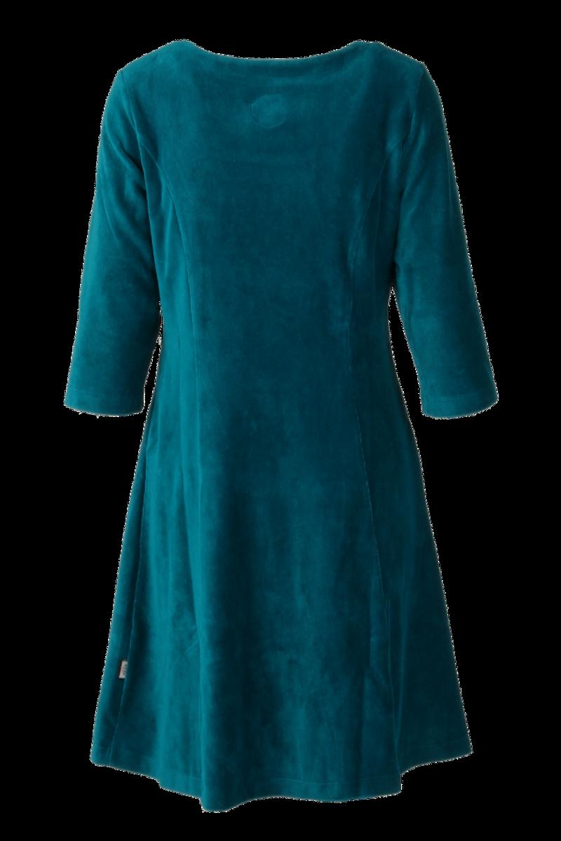 Milla kjole babycord petrol
