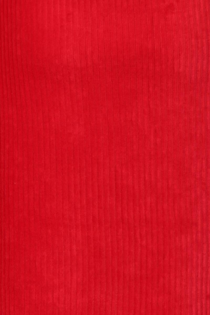 Linni rød kort velurkjole