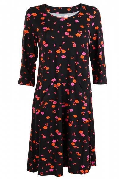 Bilde av Kaja Sort oransje rosa kjole