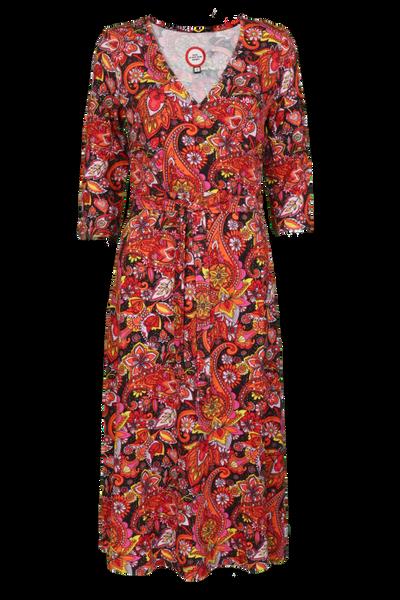 Bilde av Glory Oransje paisley kjole
