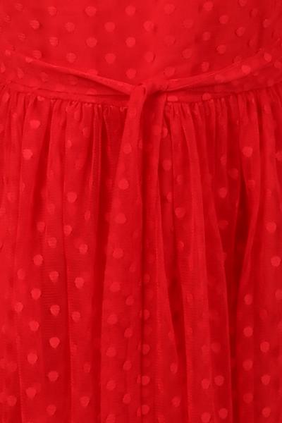Bilde av Elly rød prikkete chiffon