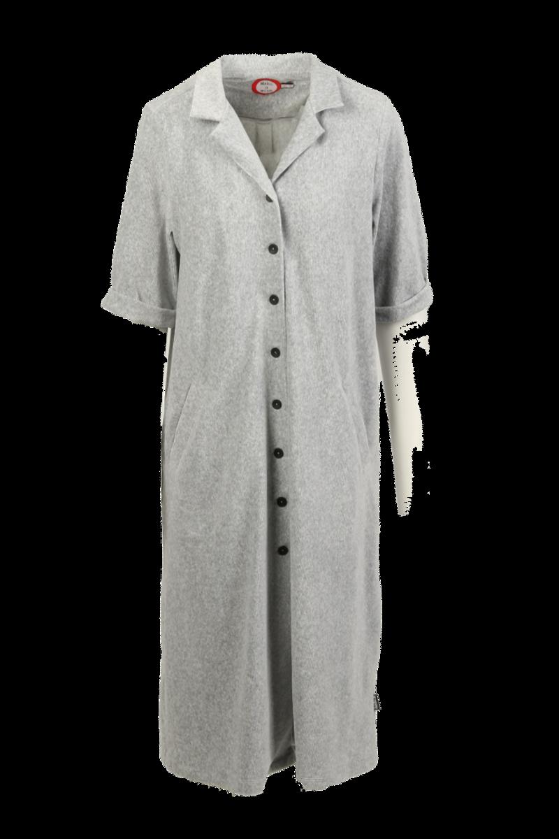 Giselle grå skjortekjole babycord