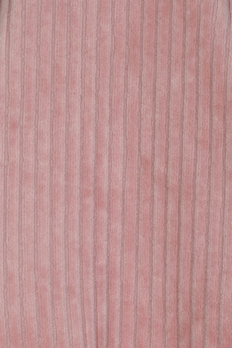 Tara pale pink velurkjole