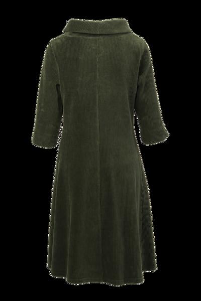Bilde av Pamela kombogrønn velurkjole