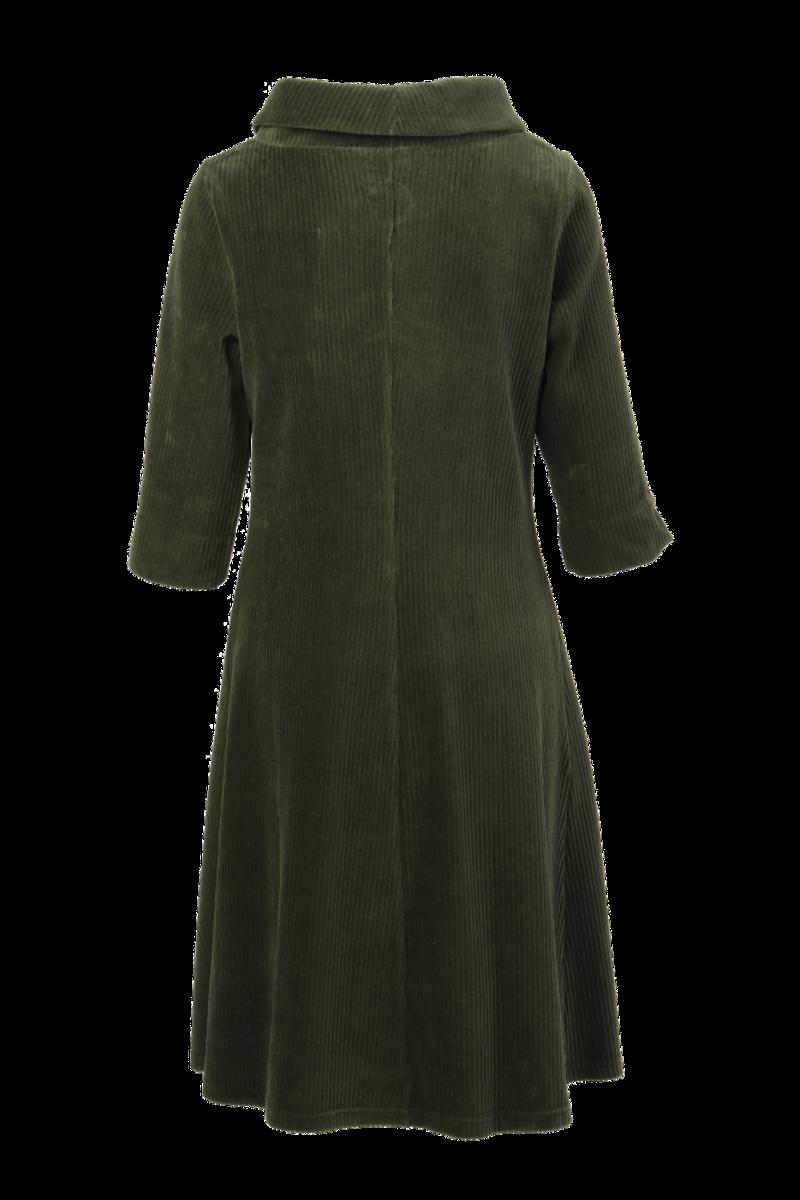 Pamela kombogrønn velurkjole