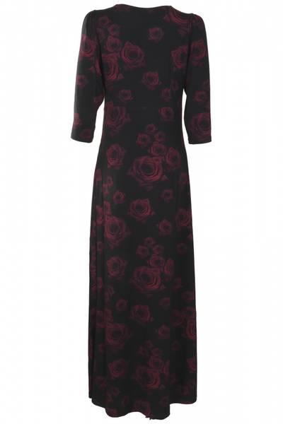Bilde av Bordeaux røde roser kjole D47