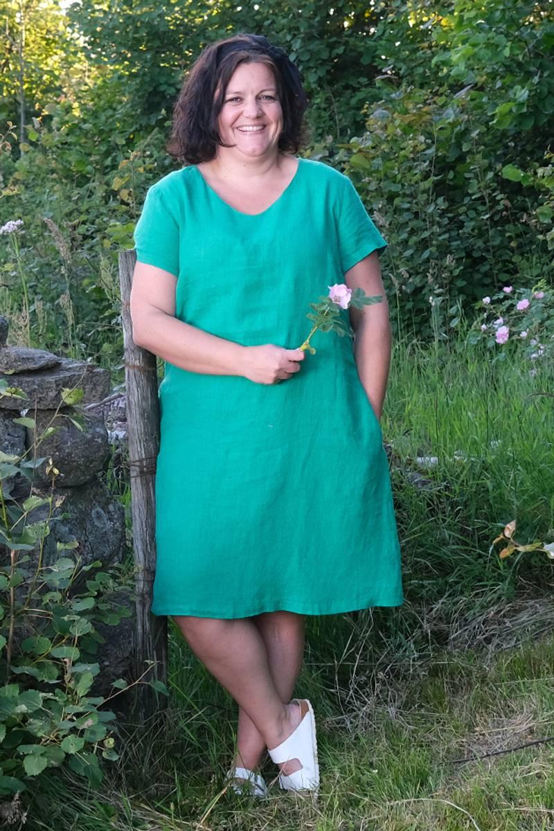 Hannalena grønn linkjole