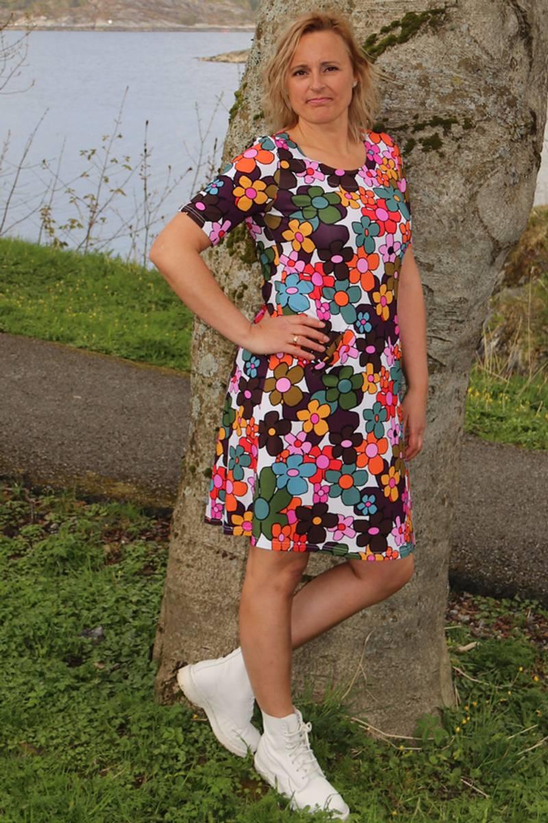 Erle multicolor kjole