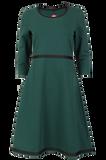 Bilde av Magda flaskegrønn kjole