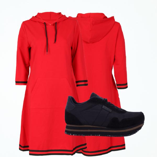 Bilde av Dagny dress red shop the look