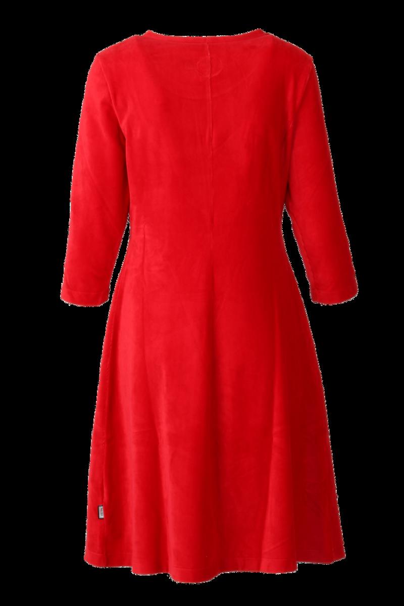 Elli kjole babycord rød