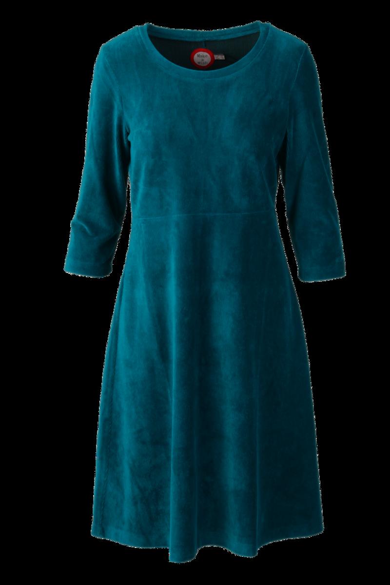 Elli kjole babycord petrol