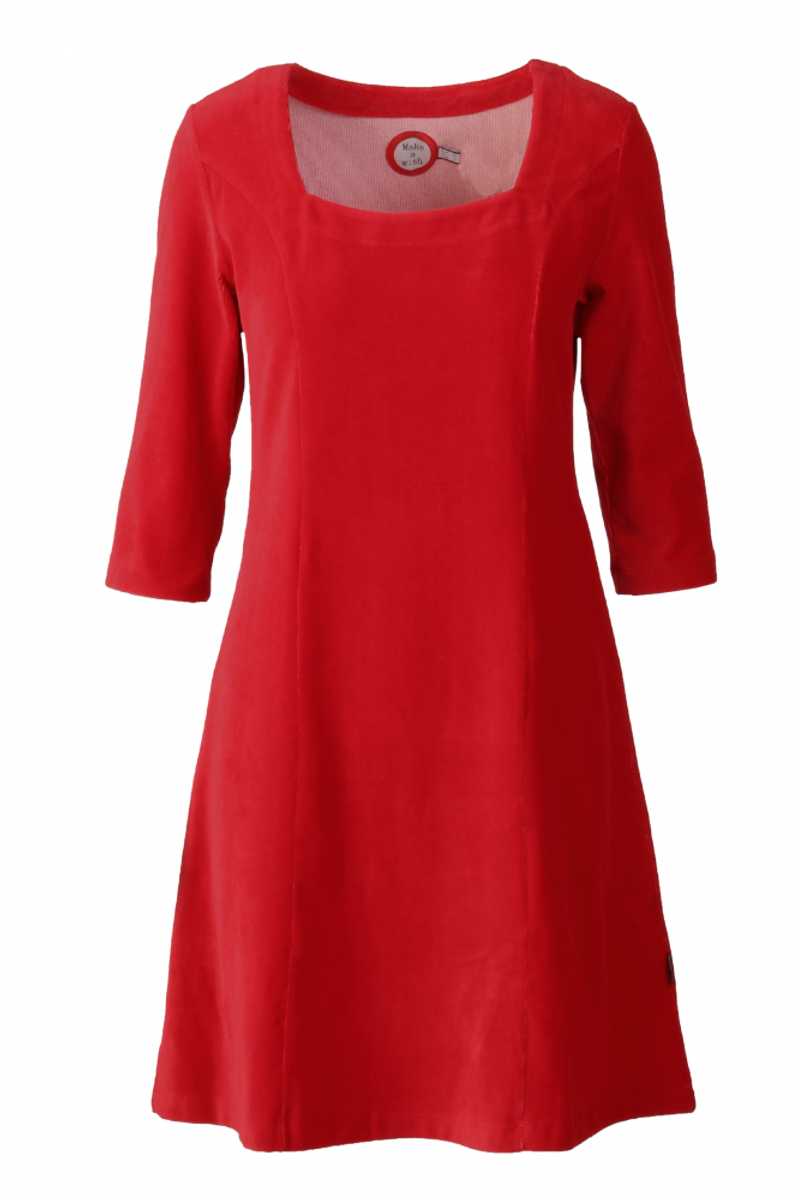 Milla kjole babycord rød