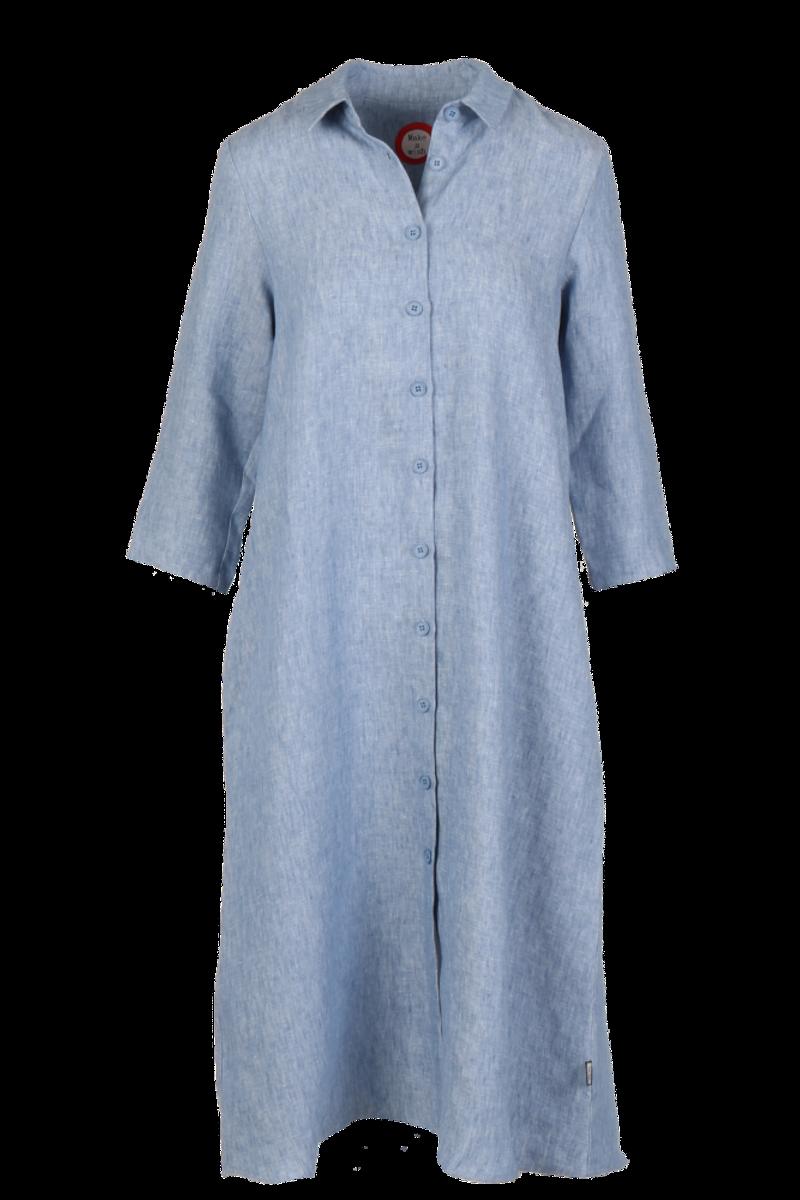 Cecillia blå melert linkjole/skjorte