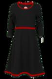 Bilde av Magda sort og rød kjole