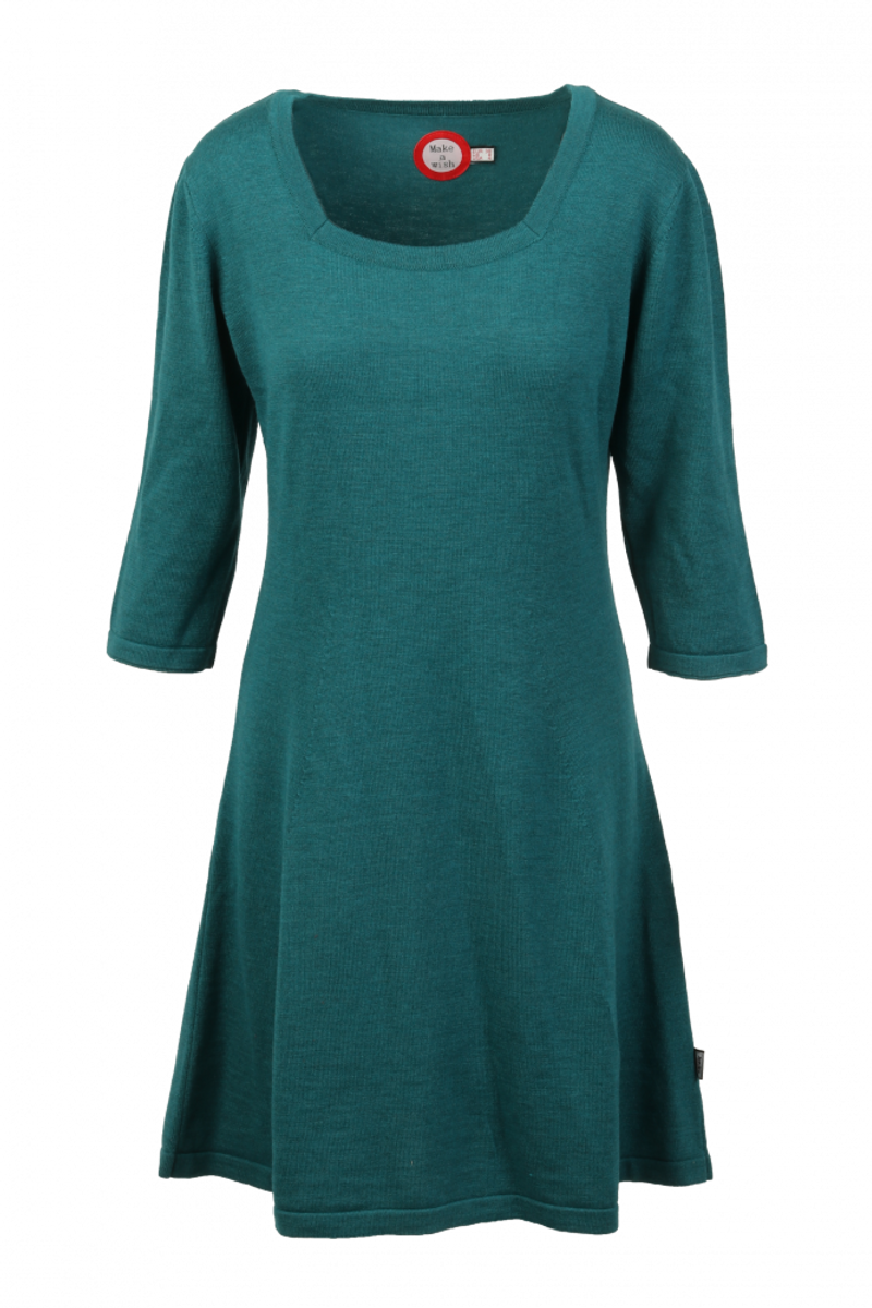 Kim petrol merinoull kjole