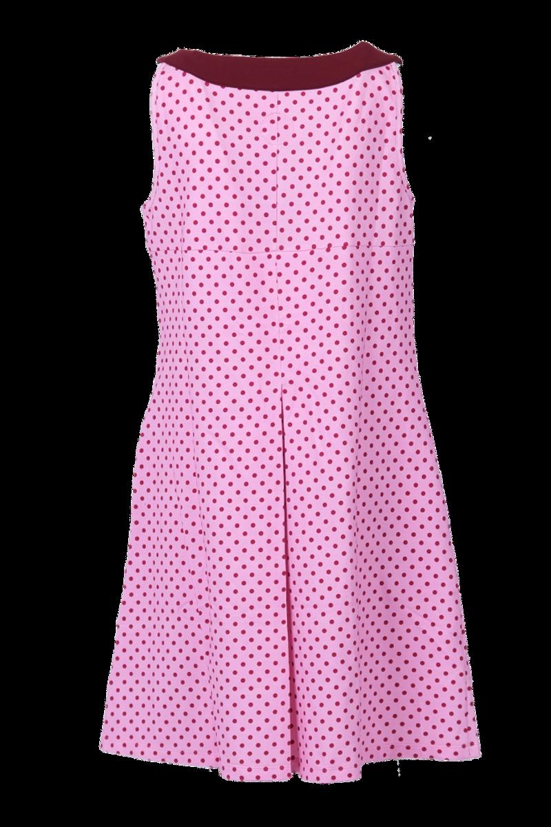 Selma rosa og rød polkadot kjole