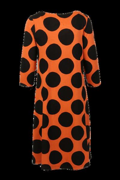 Bilde av Lone oransje sort kjole