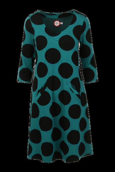 Bilde av Lone sjøgrønt sort kjole