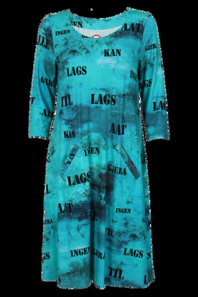 Bilde av Hallfrid Blå art kjole
