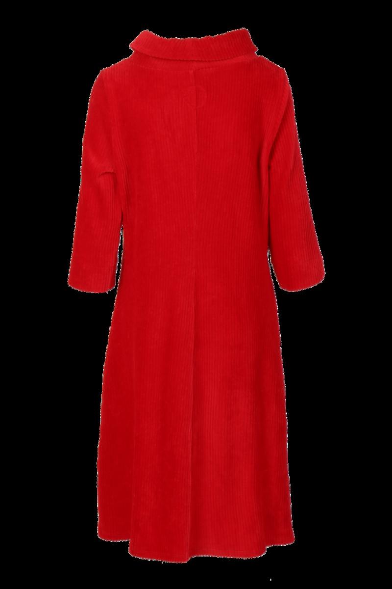 Pamela rød velurkjole