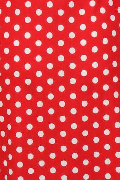 Bilde av Eirin rød og hvit polkadot
