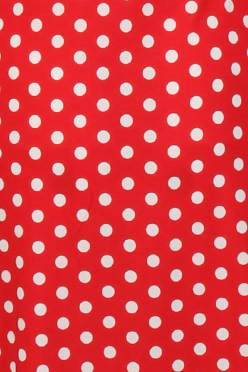 Eirin rød og hvit polkadot kjole