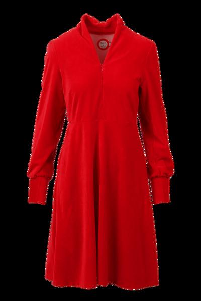 Bilde av Louise kjole babycord rød