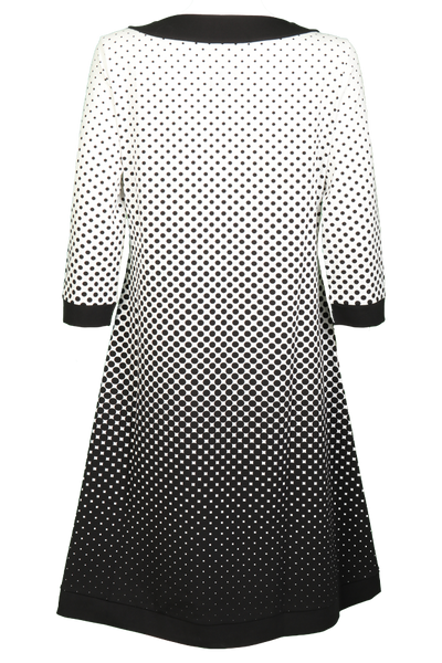 Bilde av Dorris Sort og hvit kjole