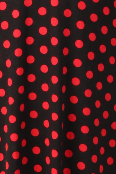 Bilde av Eirin sort rød polkadot kjole